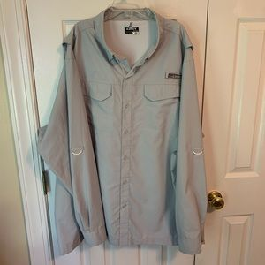 Men's Habit Fishing Long Sleeve Solar Shirt Sz 2XL